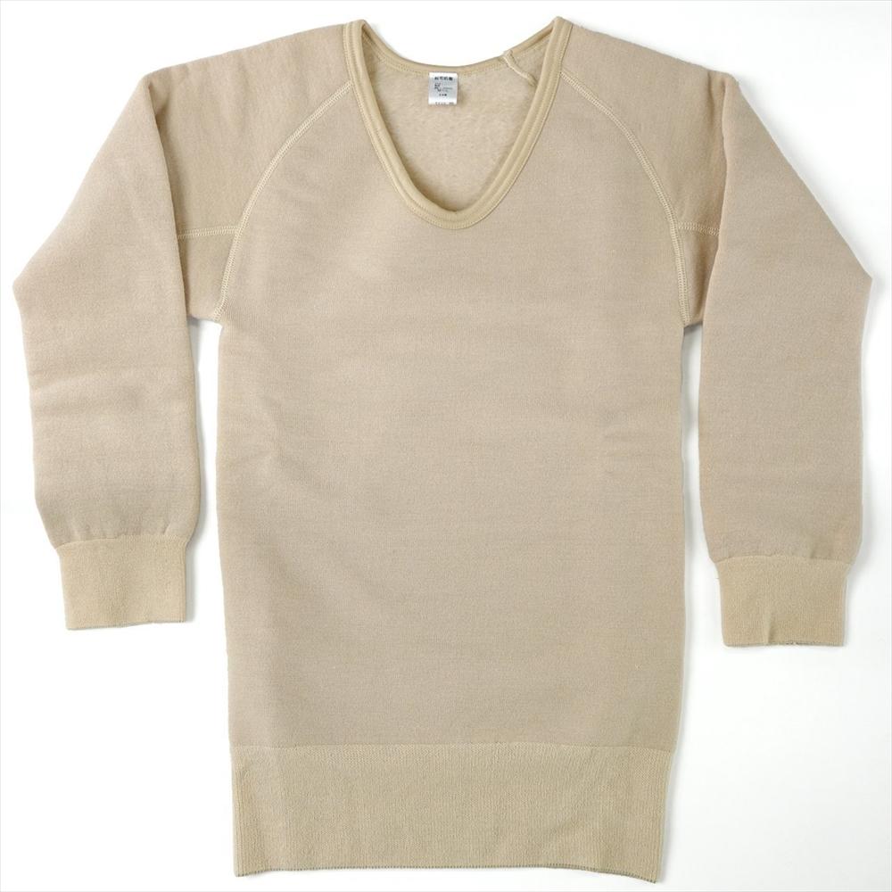 ワシオ 陽の国 防寒肌着 長袖シャツ〔男性用〕 M〜Lサイズ 【もちはだ あったか肌着】☆<br>【メール便不可】mhm-003ml