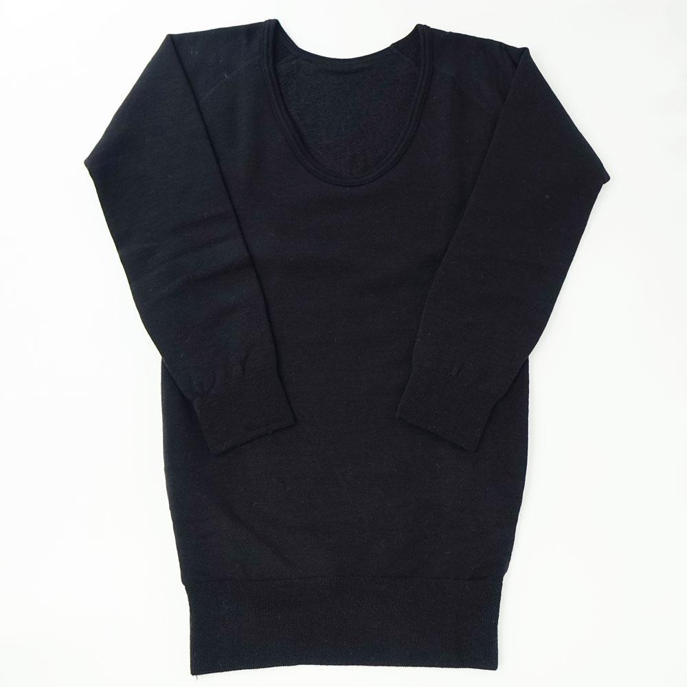 ホットウェアー3671 U首シャツ(8分袖)細微厚地〔男性用〕☆【メール便可】mhm-18