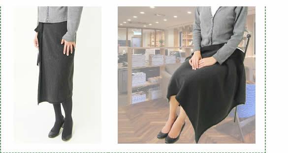 もちはだ あったか巻きスカートにもなるひざ掛け☆<br>【メール便不可】mmn-002