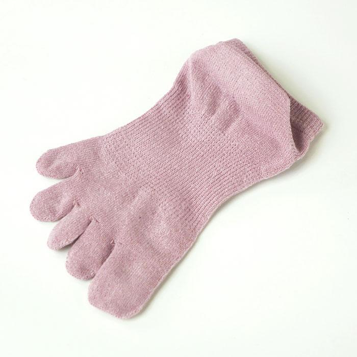 和紙の靴下 5本指ソックス 〔女性向き〕 23cm-25cm☆【メール便可】mrc-259