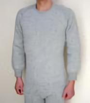 もちはだ 丸首長袖シャツ 男性用